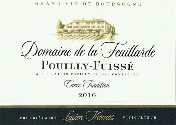 Pouilly-Fuissé Cuvée Tradition 2016
