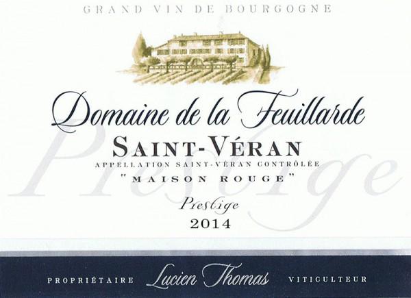 Saint Véran cuvée Prestige Fût de chêne 2014