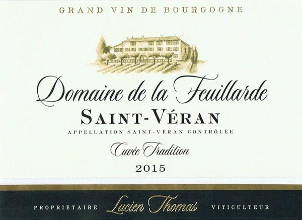 Saint-Véran Cuvée Tradition Domaine de la Feuillarde 2015