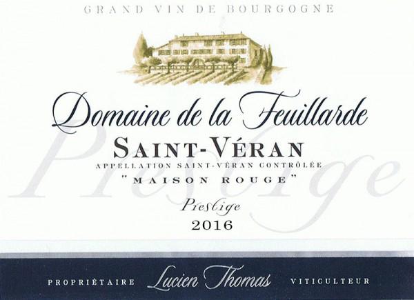 Saint-Véran Cuvée Prestige Fût de Chêne « Maison Rouge » 2016