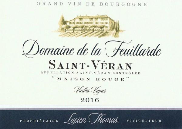 """Saint-Véran Vieilles Vignes """"Maison Rouge"""" 2016"""