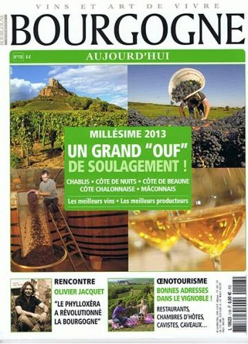 Aujourd'hui millésime 2013 UN GRAND « OUF » DE SOULAGEMENT