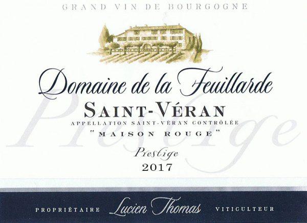 """Saint-Véran Cuvée Prestige Fût de Chêne """"Maison Rouge"""" 2017"""