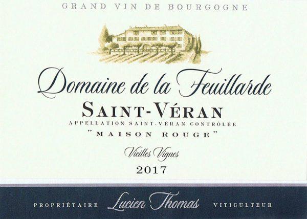"""Saint-Véran Vieilles Vignes  """"Maison Rouge"""" 2017"""